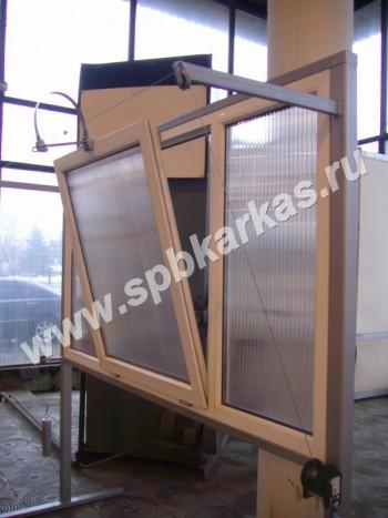 Окна для животноводческих ферм КРС с системой регулирования величины открывания.  Вентиляция, микроклимат коровника.